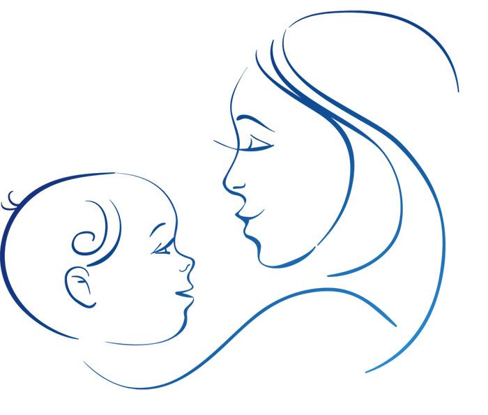 Контурная открытка цветная к дню матери